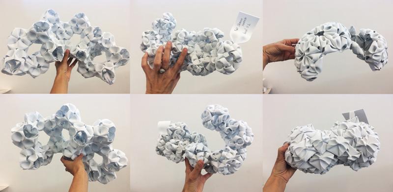 Maqueta de diseño orgánico creada por estudiantes de arquitectura